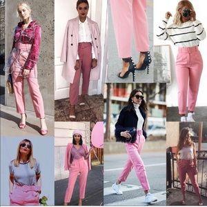 4daca5c8 Zara Pants   Pink Belted Trousers Blogger Fav   Poshmark